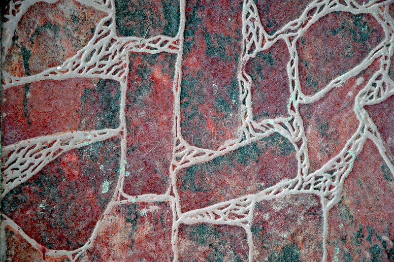 Faux Stone Floor. Flooring made of faux stone material royalty free stock photography