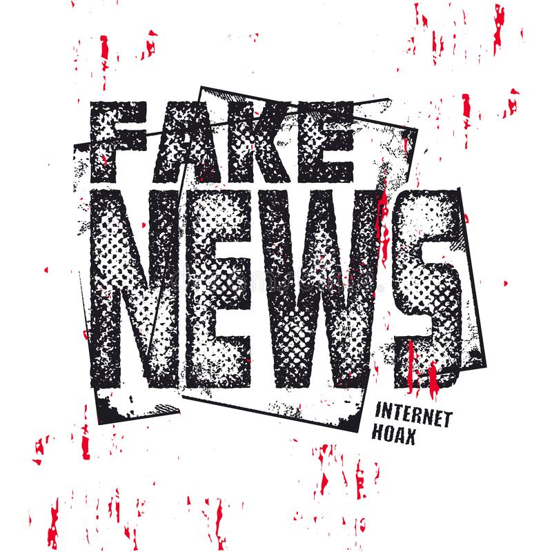 Faux texte d'actualités Illuatration de vecteur illustration libre de droits