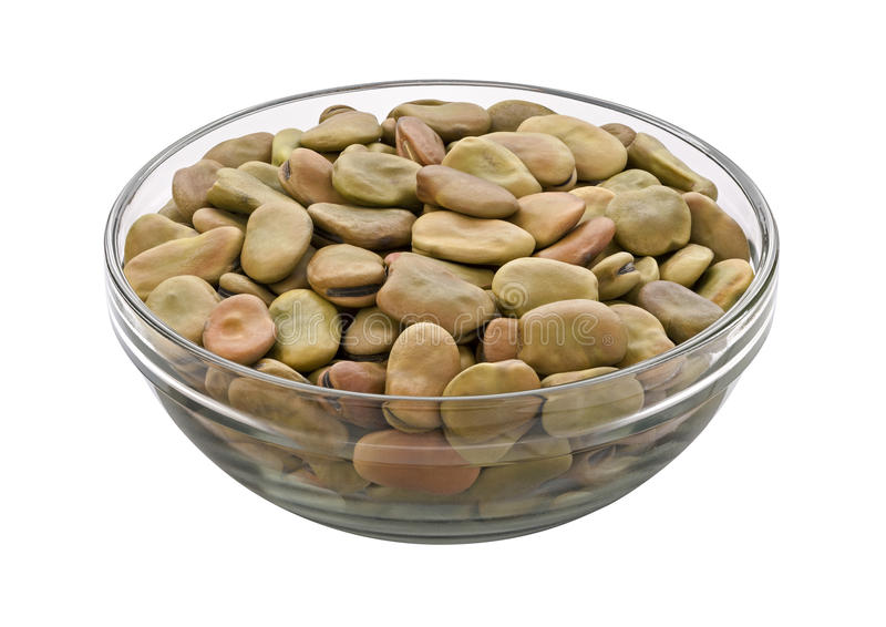 Fava Beans isolated. On white background with clipping path. Isolation is on a transparent layer in the PNG format stock image