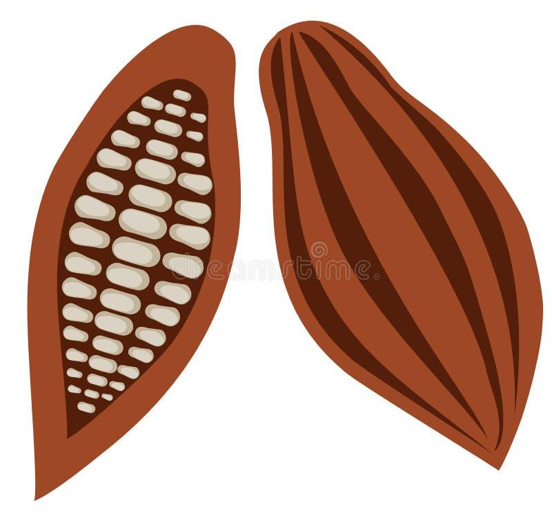 Fave di cacao di vettore illustrazione vettoriale