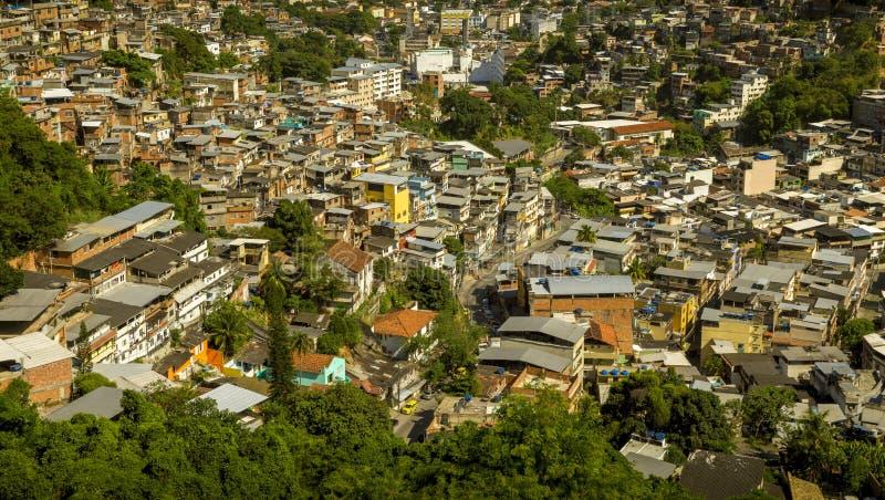 Favela在里约热内卢,巴西 库存照片