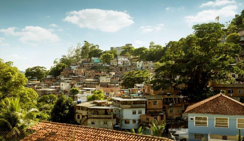 Favela в районе Cosme Velho Рио-де-Жанейро, Бразилии стоковые фото