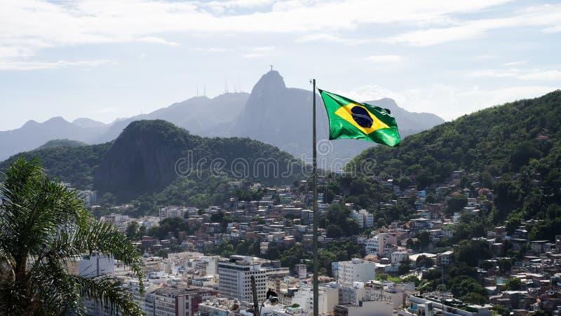 Favela в Copacabana, Рио-де-Жанейро, Бразилии стоковые фотографии rf
