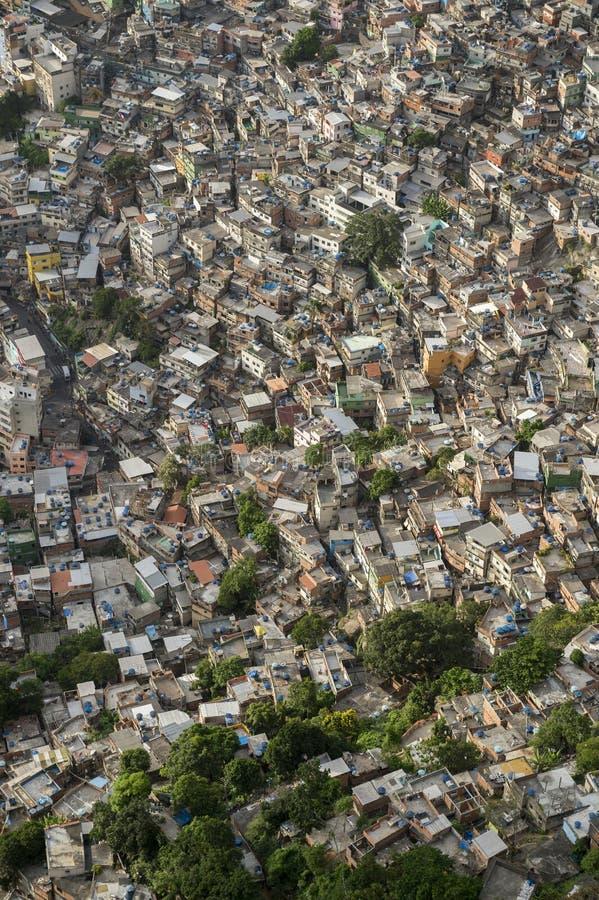 Favela巴西山坡陋屋地区里约热内卢巴西 库存照片