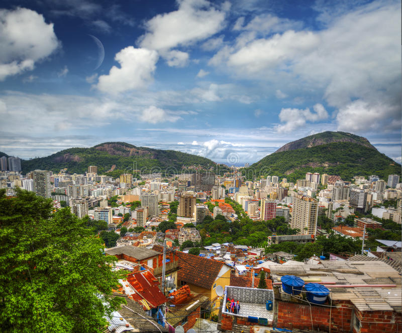Favela fotografia de stock