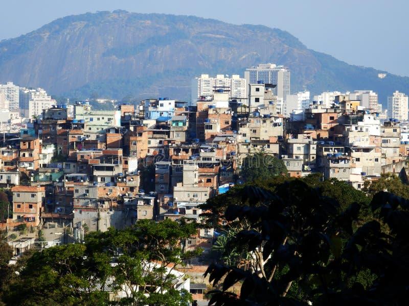 Favela au centre de Rio de Janeiro photo stock