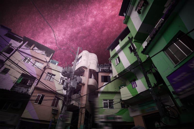 Favela bieda w Rio De Janeiro zdjęcie royalty free