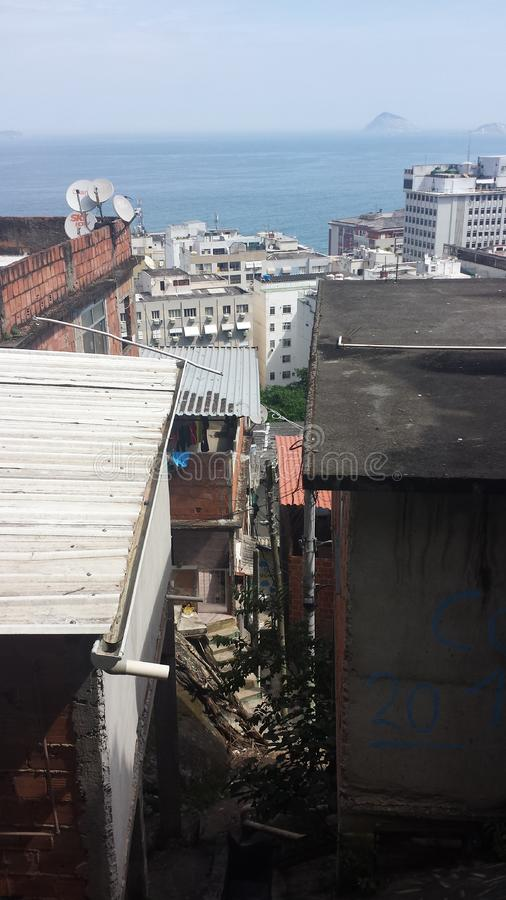 Favela Brésil de Rio De Janeiro photos libres de droits