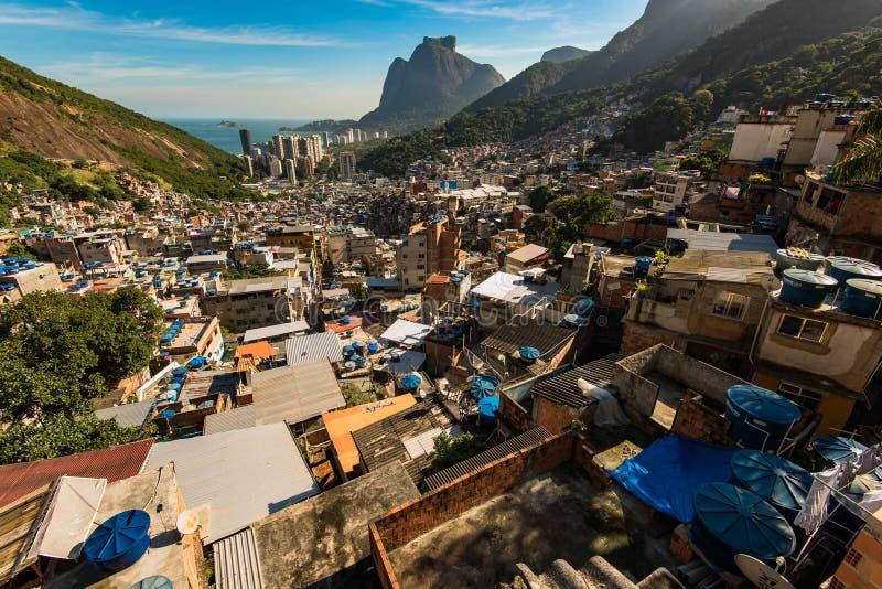 Favela da Rocinha in Rio de Janeiro stock image