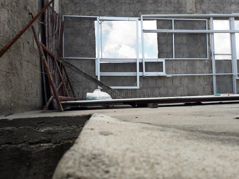 Favela dach w Recife z jasnym niebem i chmurą fotografia royalty free