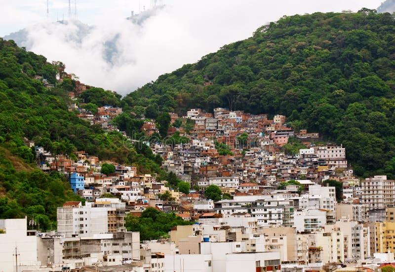 Favela dans Rio de Janeiro image libre de droits
