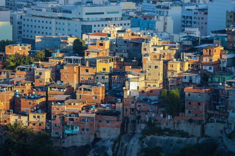 Favela de Santa Teresa en Rio de Janeiro image stock