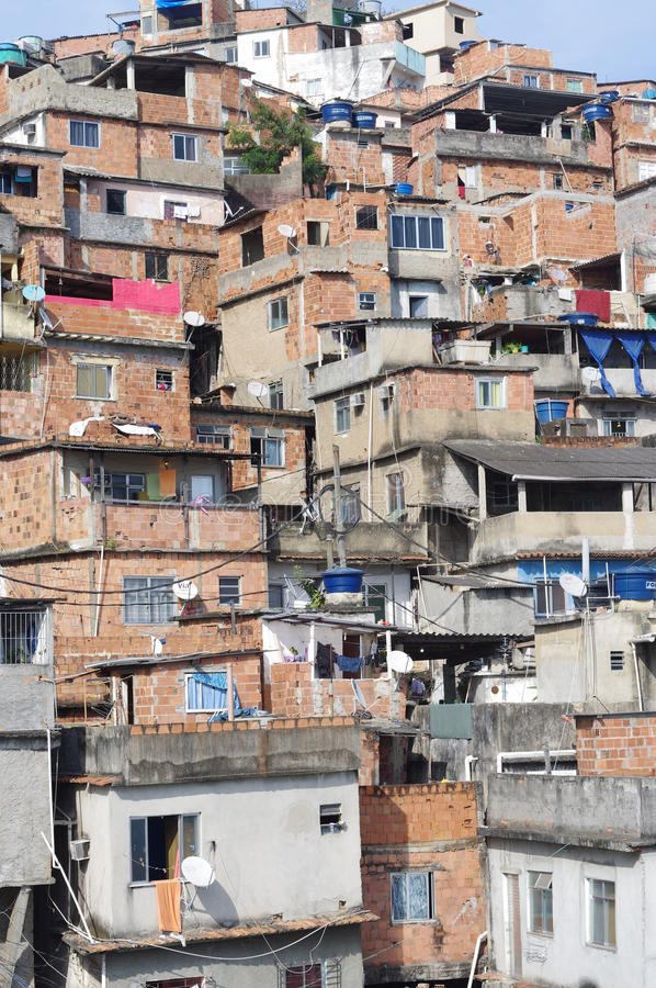 Favela do monte em Rio de janeiro foto de stock