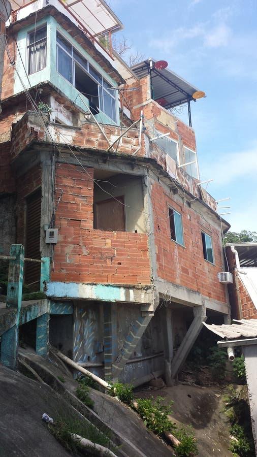 Favela el Brasil de Rio De Janeiro fotografía de archivo