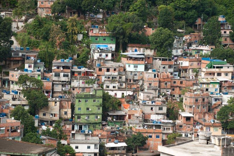 Favela em Rio De janeiro imagem de stock