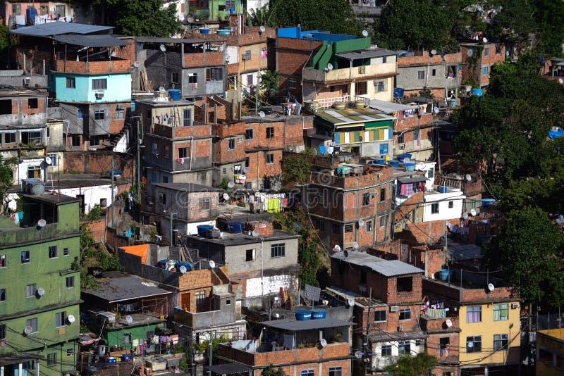 Favela em Rio De janeiro imagens de stock
