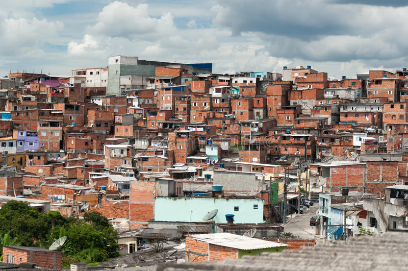 Favela em Sao Paulo fotos de stock