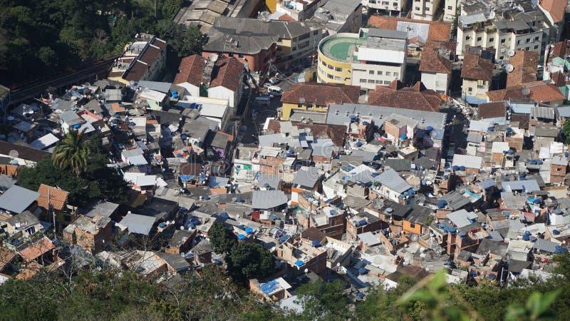 Favela en Rio de Janeiro, Brésil photos stock