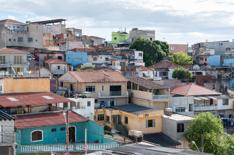 Favela i Sao Paulo royaltyfri bild