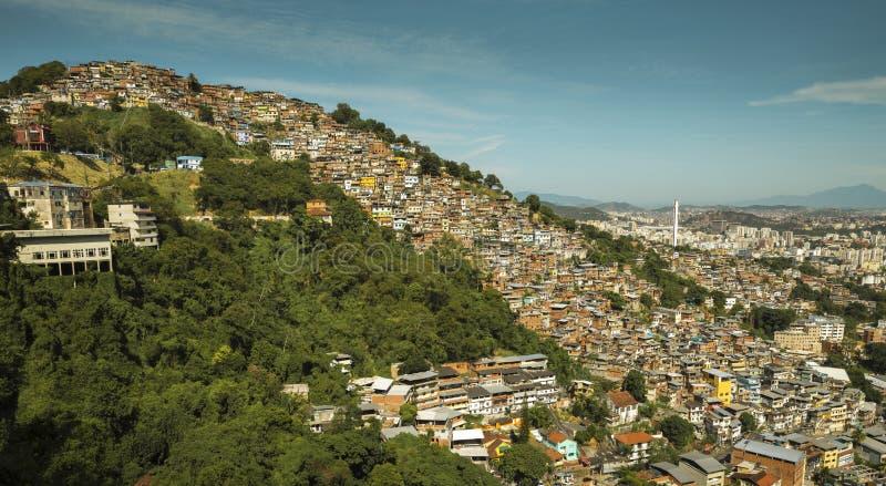 Favela Morro dos Prazeres在里约热内卢 库存图片