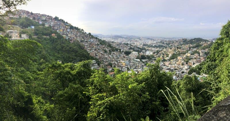 Favela Morro DOS Prazeres i Rio de Janeiro arkivfoto