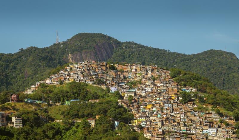 Favela Morro DOS Prazeres in Rio de Janeiro, Brasilien lizenzfreie stockbilder