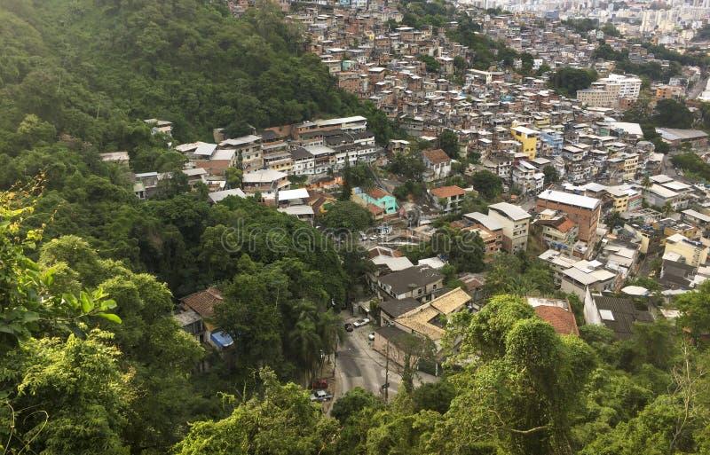 Favela Morro dos Prazeres w Rio De Janeiro zdjęcia royalty free