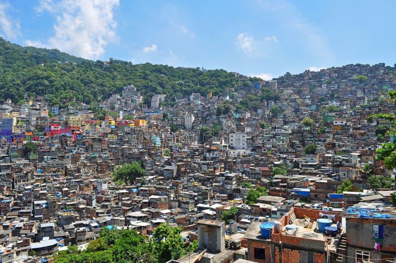 Favela Rocinha。 免版税库存图片