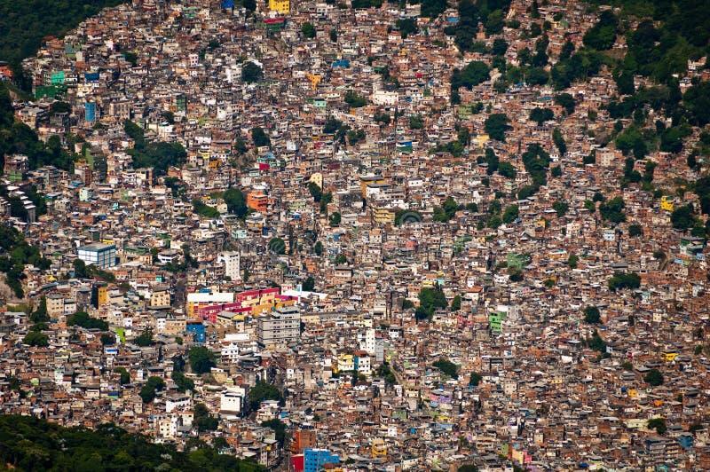 Favela Rocinha在里约热内卢 库存图片