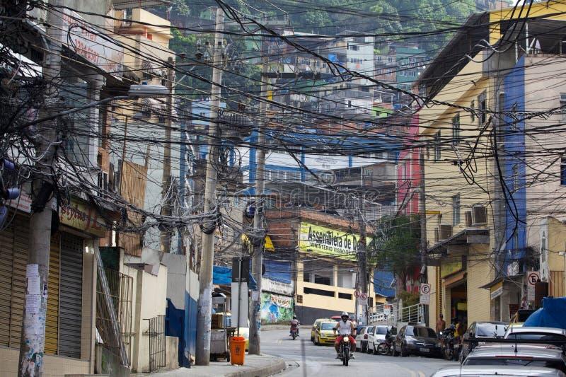 Favela Rocinha stock afbeelding