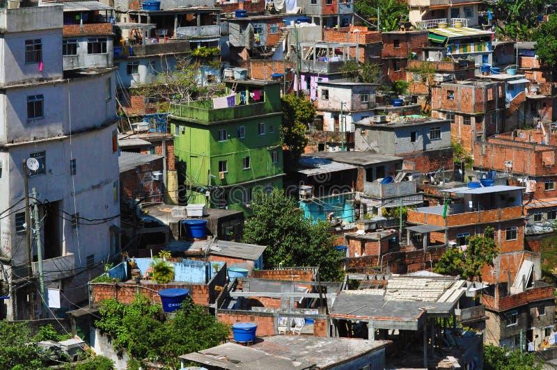 Favela Rocinha, Rio de Janeiro stock foto