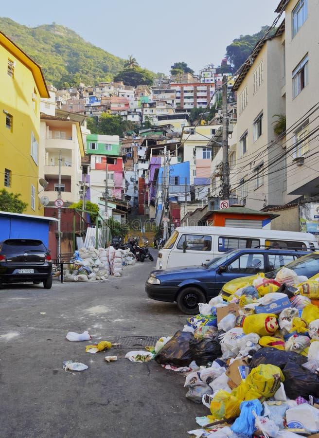 Favela Santa Marta in Rio de Janeiro. Brazil, City of Rio de Janeiro, View of the Favela Santa Marta royalty free stock images