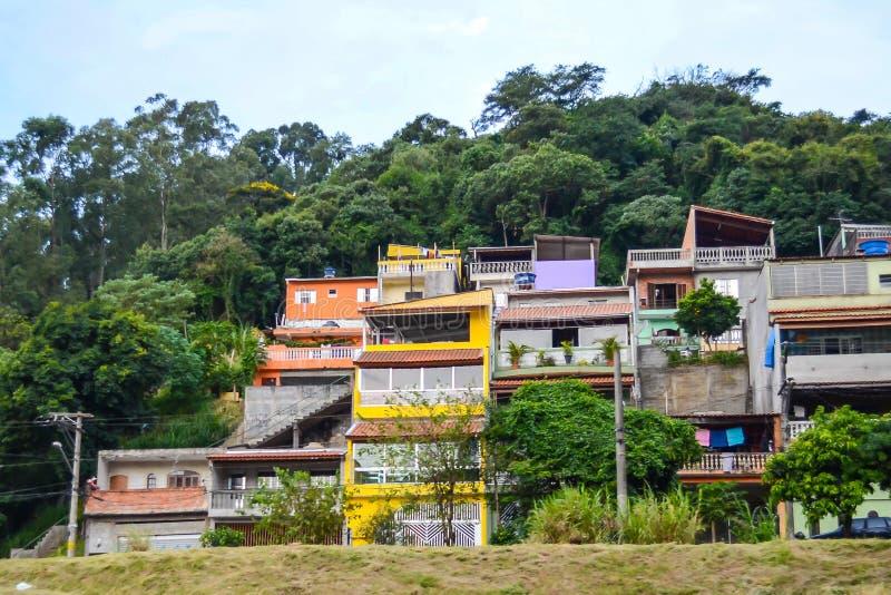 Favela w Sao Paulo przedmieściu, Brazylia zdjęcie stock