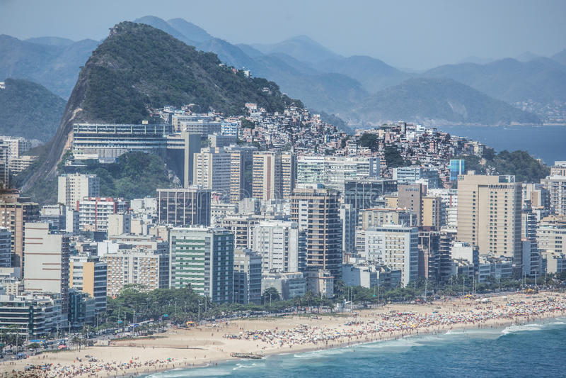 Favelas Рио-де-Жанейро, Бразилия стоковое фото