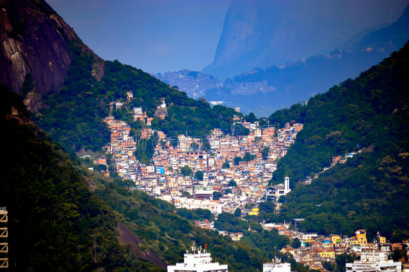 Favelas Rio de janeiro imagem de stock