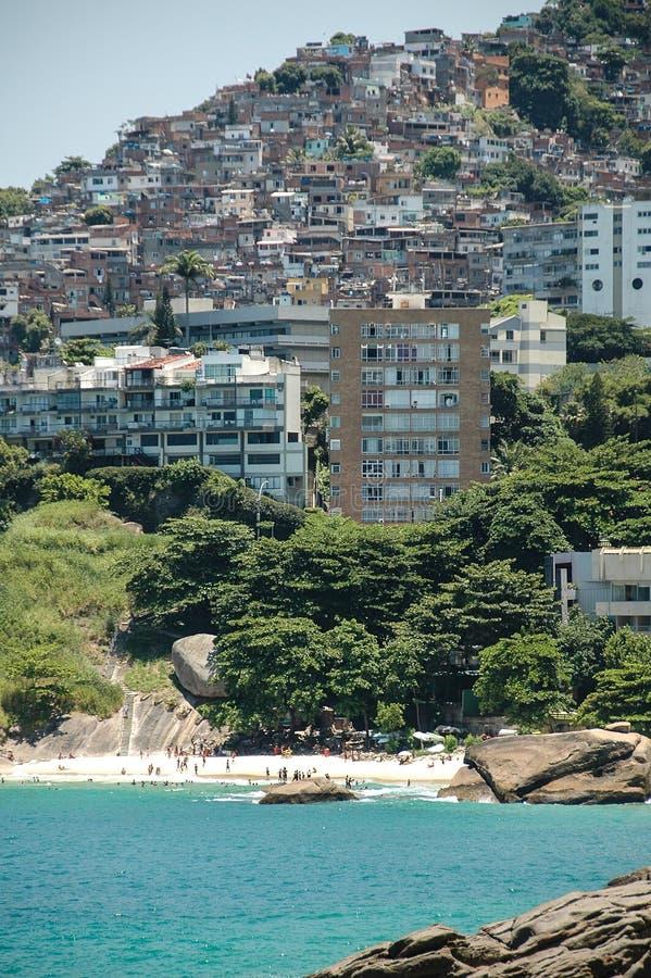 Favella buiten Rio de Janieo, Brazilië royalty-vrije stock afbeeldingen