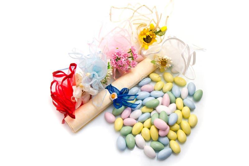 Faveur colorée différente de sucrerie image libre de droits