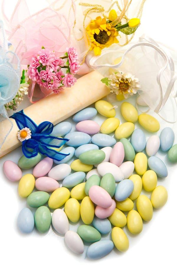Faveur colorée différente de sucrerie photos stock