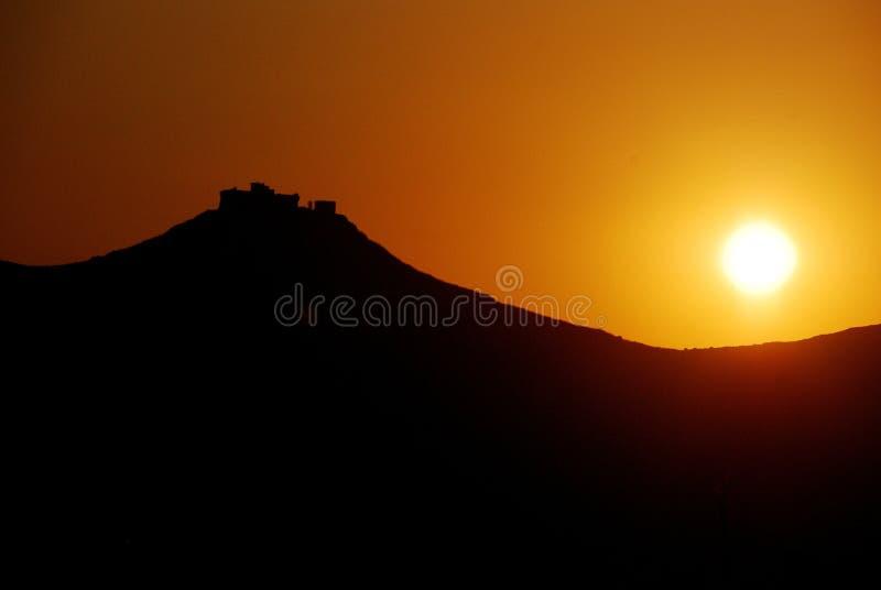 Favignana (isole) di Aegadian - tramonto fotografie stock