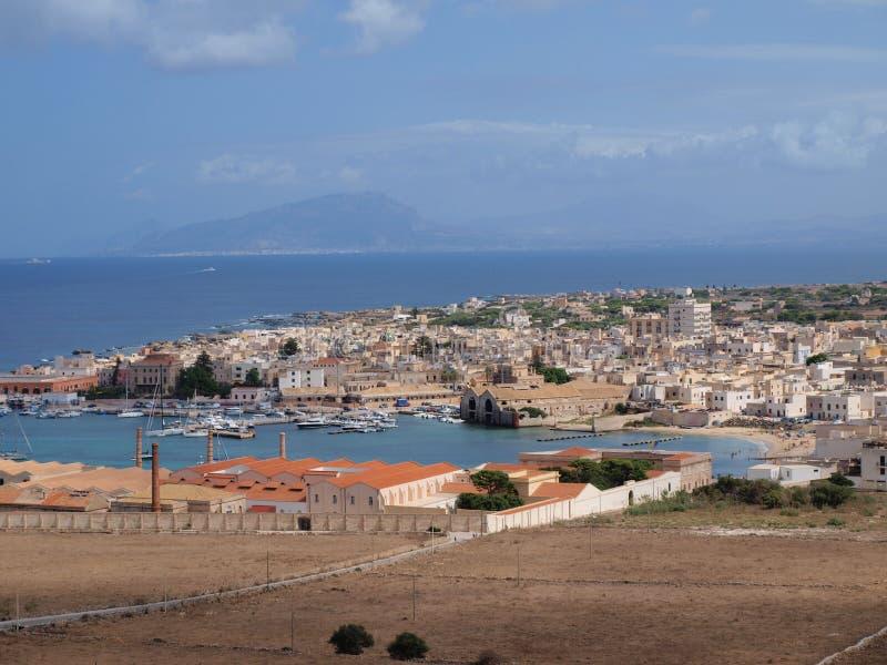 Favignana-Stadt, Favignana-Insel, Sizilien, Italien lizenzfreies stockbild