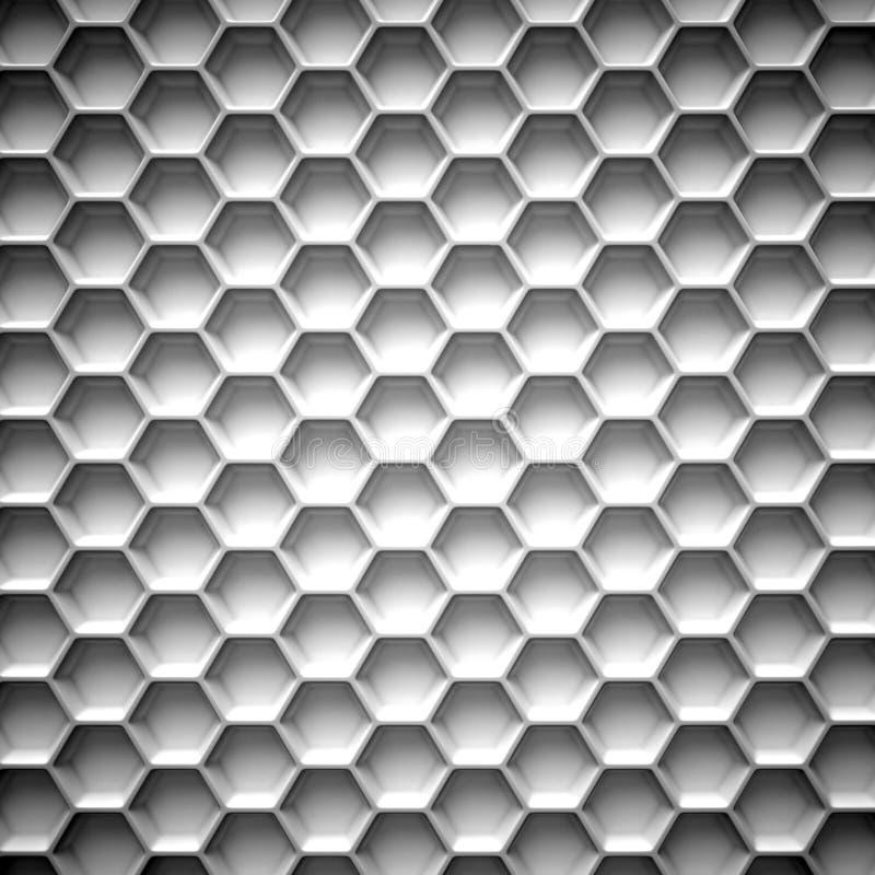 Favo de mel preto e branco abstraia o fundo ilustração do vetor