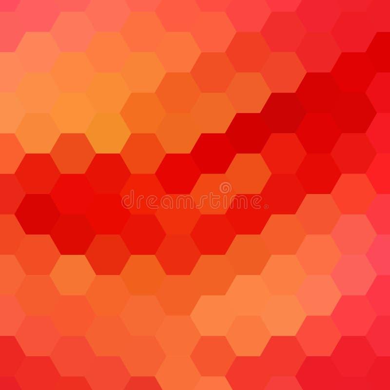 Favo de mel vermelho disposição moderna para anunciar - Vektorgrafik ilustração stock