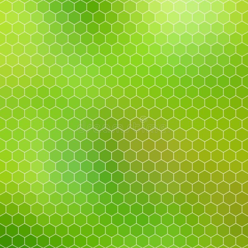 Favo verde - griglia geometrica astratta di esagono illustrazione di stock