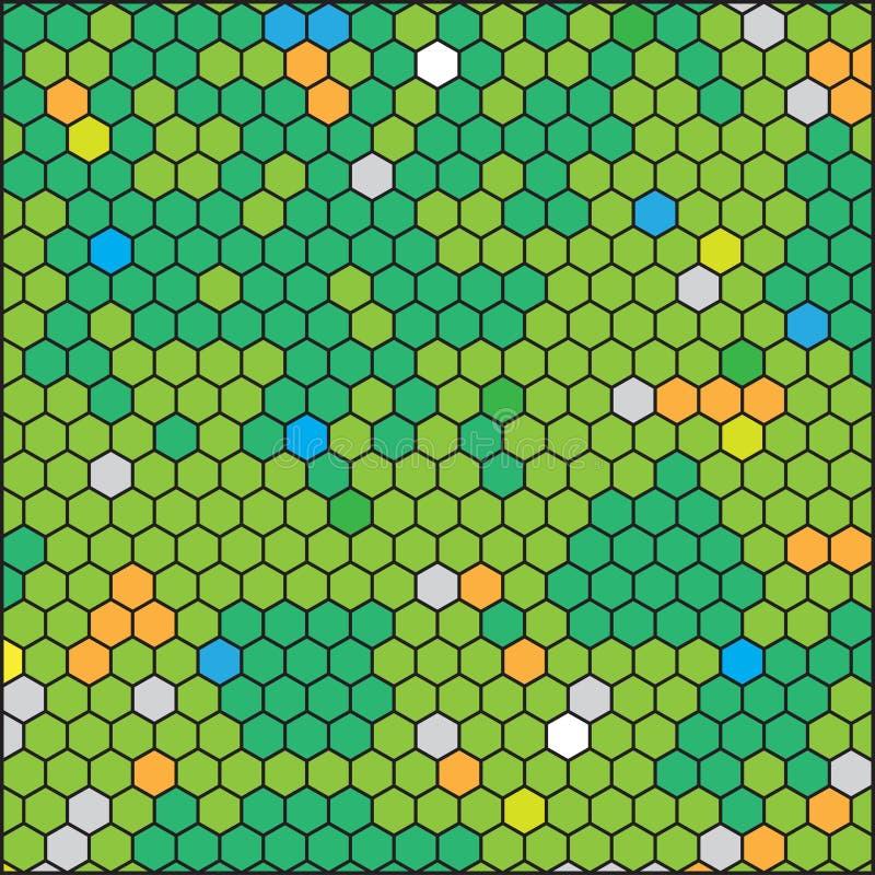 Favo verde, griglia geometrica astratta di esagono royalty illustrazione gratis