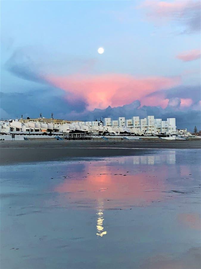 Favola e magia in Matalascanas, provincia di Huelva, Andalusia, Spagna fotografia stock libera da diritti