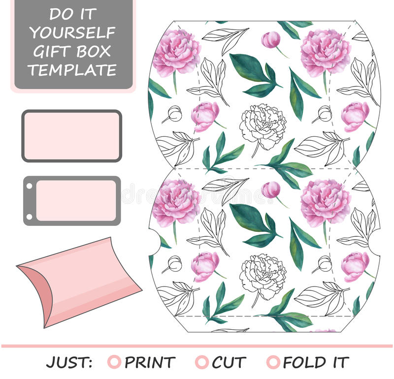 Favor gift box die cut box template stock illustration download favor gift box die cut box template stock illustration illustration of ornamental solutioingenieria Images