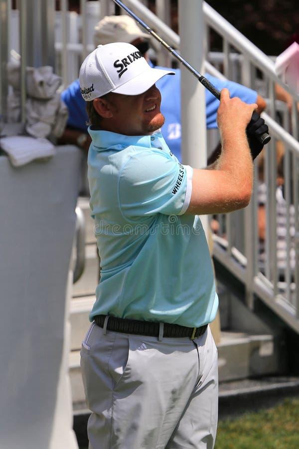 Favorable golfista JB Holmes fotos de archivo libres de regalías