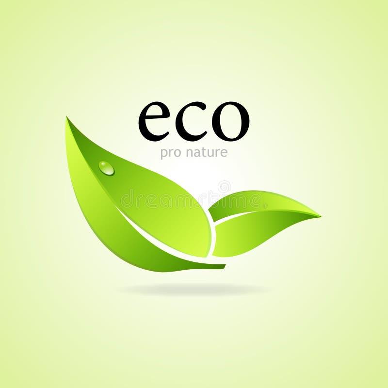 Favorable símbolo de la naturaleza de Eco ilustración del vector