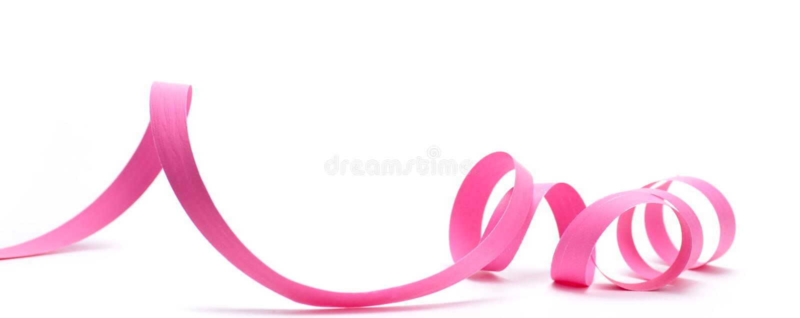 Favore di partito, nastro rosa immagini stock libere da diritti
