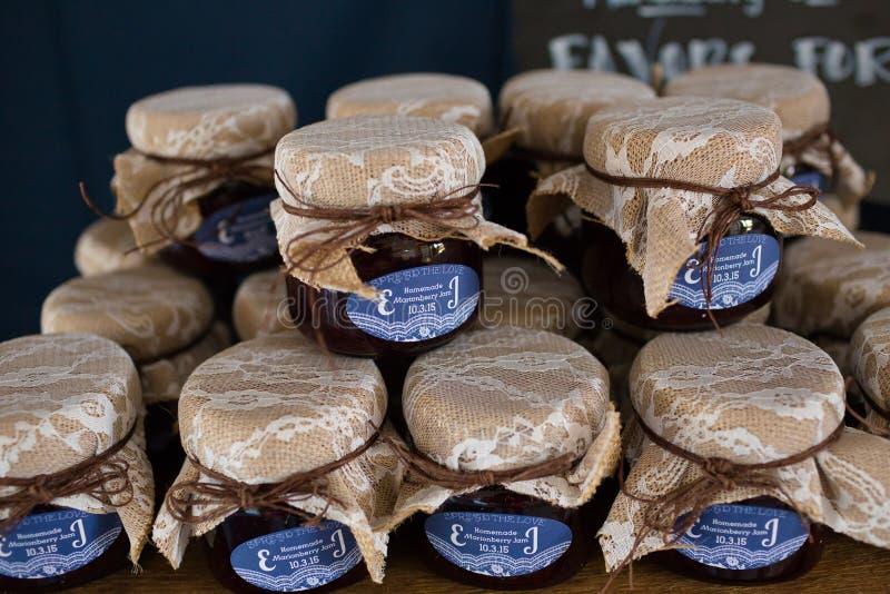 Favores caseiros do casamento do doce de Marionberry fotografia de stock royalty free